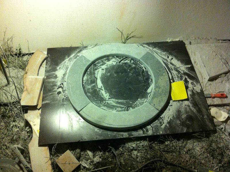 Shape is finished. DIY sauna stove ring