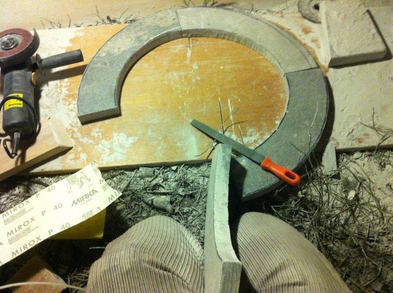 DIY sauna stove ring