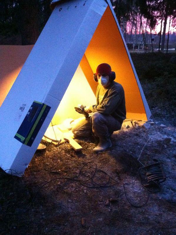 Cutting soapstone for DIY sauna stove ring