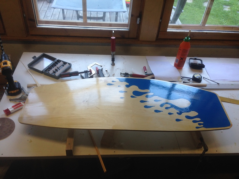 DIY Wakeskate paint job