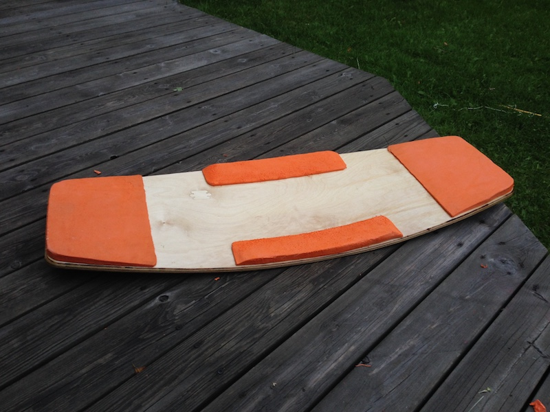 DIY Wakeskate nose, tail kickflip edge from EVA-foam