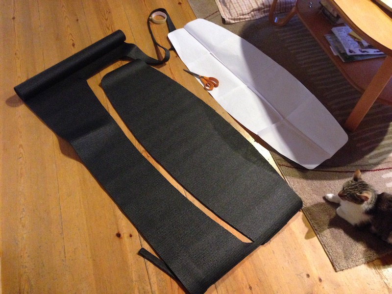 DIY Wakeskate grip material from yogamat